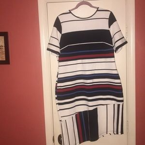 Eloquii striped dress with side slit!